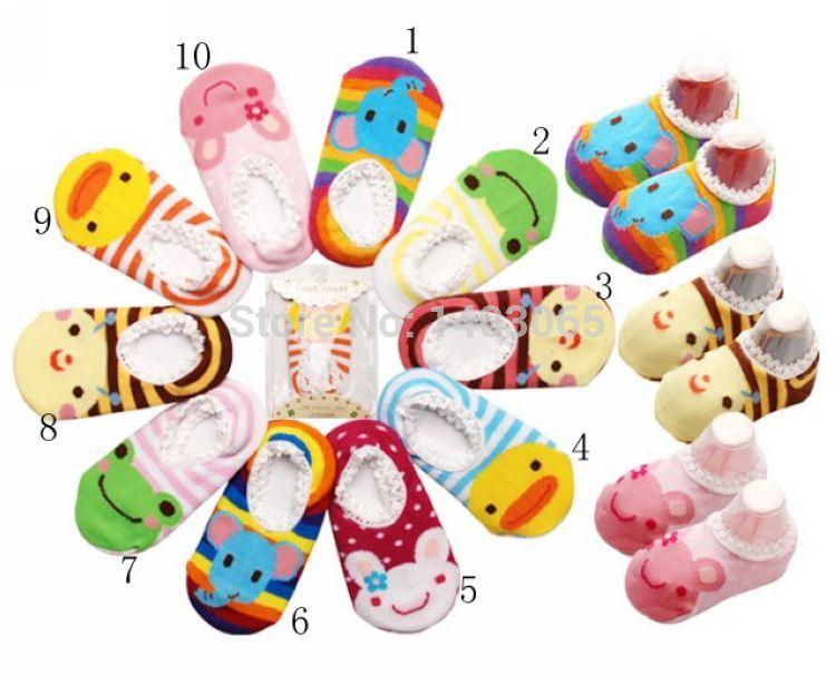 Kid's socks cotton slippers child cartoon slip-resistant slippers boys girls baby floor socks toddler Free Shopping(China (Mainland))