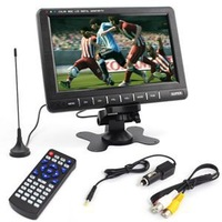 9.8'' LCD Car Video Player full TV system Monitor Car SD MMC AVI IR Monitor Mirror Mini TFT LCD Analog TV Car Monitor