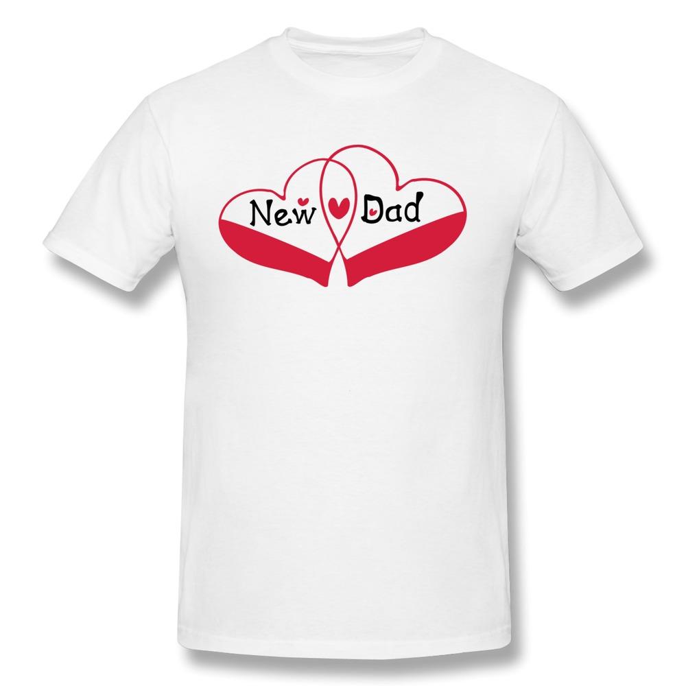 Personalize 100% Cotton T Shirt Mens New Dad txt double hearts Fun Logo T-Shirts Man Unique Design(China (Mainland))