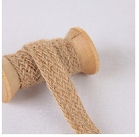 "1.5cm (around 3/5""), 15 yards / lot, Linen Jute Rope Ribbons,thicken Knitted twisted Linen Rope Cords hemp cords"