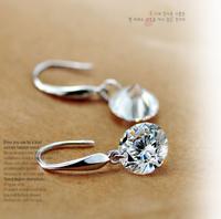 2014   Hypoallergenic earrings crystal earrings fashion jewelry wholesale explosion models female ear rings shining girl
