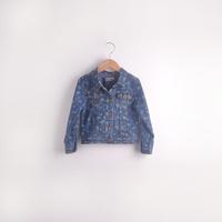 2014 autumn children's clothing female child short design top shirt paragraph water wash denim skirt clothing outerwear