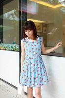free shipping/2014 new arrival/hot sale women dress/2014 summer dresses/fashion designer/ Chiffon dress/Korean/Slim / sleeveless