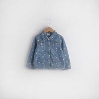 2014 autumn children's clothing female child short design top fashion polka dot water wash denim skirt clothing outerwear