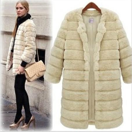 M271# 2014 new autumn and winter, women's fur clothes faux fur coats fur jackets ladies coats, plush warm coat large size XXL.(China (Mainland))