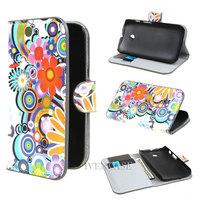 Fashion Flower 2 Wallet Leather Stand Flip Case Cover For Motorola Moto E Dual XT1021 XT1022