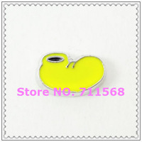 Mickey's Yellow Foot Floating Charms Mickey Foot Charm Pendant For Glass Floating Locket DIY Charms