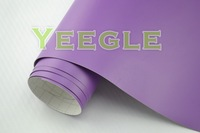.52x30M 5x98FT High Quality Protective purple matte car wraps Free Shipping