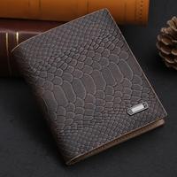 !wallets 2014 new arrivel casual men's two fold leather wallets fashion snake pattern wallet purse free shipping  M34
