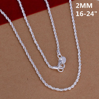 Free Shipping 925 Silver Necklaces,Fashion 925 Sterling Silver Necklace,Wholesale Fashion Jewelry,WJKN226
