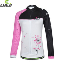2014  CheJi Cycling Long Jersey  good quality fabric quick dry breathable bike wear for women