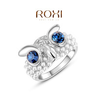 Wedding Rings Rings For Women Roxi Christmas Gift Classic Genuine Austrian Crystals Fashion Kiss Fish Ring 100% Man-made Big Off