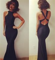 Black Summer Dress 2014 Hot Models Sexy Stunning Dress Strap Swallowtail Pencil Nightclub Bodycon Bandage Dress