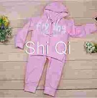 Free shipping children coat girl winter sets 2014 angel clothing  kids wing cotton hoody jacket coat+pants suit set