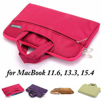 50pcs/lot, Protective Case Briefcase Bag for MacBook 11.6, 13.3, 15.4 inches, 4 Colors, Mix Colors acceptable -- (LJ-MB-03)