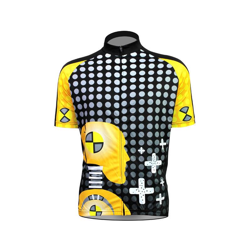 New Mens Cycling Jersey Comfortable Bike/Bicycle shirt Robot Alien Sports Wear Cross and Polka Dot cycling clothing Size2XS-5XL(China (Mainland))