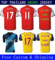 A+++ Thailand New Alexis Sanchez Ramsey Ozil Walcott Giroud Blouse 14 15 Thai Rosicky 2014 2015 Soccer Jersey Futbol With Patch