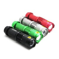 Hot Waterproof LED Flashlight 7W CREE Q5 3 Mode Focus Zoomable 400 Lumens LED Torch Light