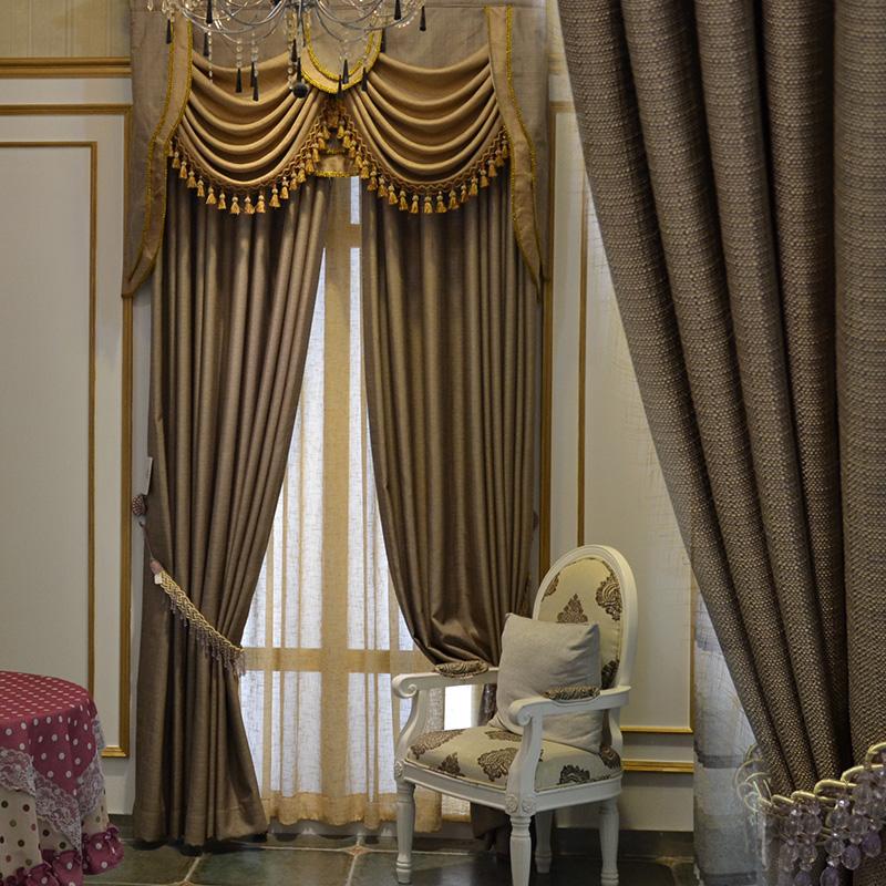 profissional apagão alta qualidade cor sólida fluido breve telas janela moderno material de linho tecido cortinas cortina valência(China (Mainland))