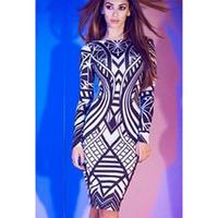 FREE SHIPPING Fashion autumn long-sleeve tight-fitting color block hip slim medium-long one-piece dress 6547