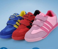 Girls Shoes Time-limited Checkered Hook & Loop (velcro) Unisex New 2014 Brand Leisure Fashion Kids Children Shoes Sneakers for &