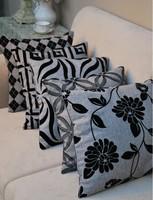 hot sale 45x45cm grey black fabric sofa decoration car living room chair back pillow cushion cover