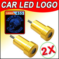 2pc 6th Gen Cree LED Projector Badge Ghost Shadow Light Vehicle/Auto/Car Door LED Logo Light Sick Boy Motorcycle