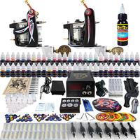 Wholesale - Complete Tattoo Kit 2 Pro Rotary Machine Guns 54 Inks Power Supply Needle Grips TK227