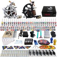Wholesale - Complete Tattoo Kit 2 Pro Rotary Machine Guns 54 Inks Power Supply Needle Grips TK230