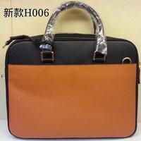 High-quality (1:1) 38CM 100% Genuine leather (H-handbags) Men's leather briefcase size:38x29x10cm