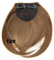 Clip in hair bang B3 front neat Heat Resistance synthetic hair fringe  frinde  12#,30g, 1pc