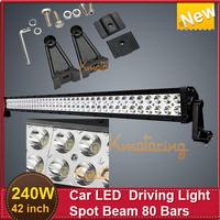 NEW Car Driving Light  LED 240W 42'' Dual Row Epistar Offroad Headlight  4WD  Trucks SUV ATV Pickup Van Spot Beam
