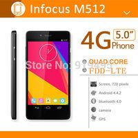 """Original Foxconn Infocus M512 Phone 4G FDD LTE Qualcomm MSM8926 Quad Core CPU Mobile Phone 5"""" 1280x720 IPS Screen Android 4.4"""