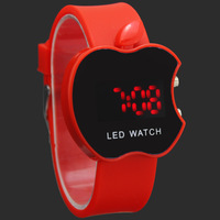 Red Fancy New Boy Lady Girls Students Fashion Sport Digital LED Xmas Gifts Wrist Watches, Free & Drop Shipping