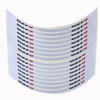 16 pcs 18'' Car Motorcycle Reflective White Rim Stripe Wheel Tape Stickers GSXR