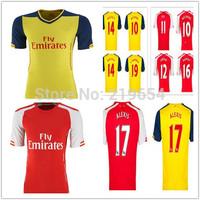 2015 Soccer Jersey ALEXIS OZIL WILSHERE RAMSEY  GIROUD CAZORLA PODOLSKI WALCOTT  thailand quality  soccer jerseys free shipping