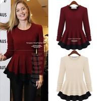 2014 new large size ladies' fashion show thin sweater coat joker render unlined upper garment