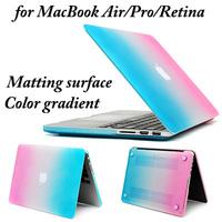 20pcs/lot,Cover Case Full Body Protector for MacBook Retina 15.4,13.3/Pro 15.4,13.3/Air 13.3,11.6 -- Color gradient (LJ-MB-4)
