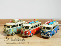Vw skateboard small bus tin model cars home decoration crafts gifts hot-selling