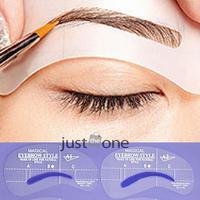 4pcs set Eyebrow Template Set Grooming Stencil Kit Makeup Shaping DIY Paint Card