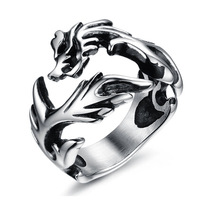2014 Fashion Jewelry Dragon Rings Men High Quality STAINLESS Steel free shipping USA UK Russian Brazil FS US size