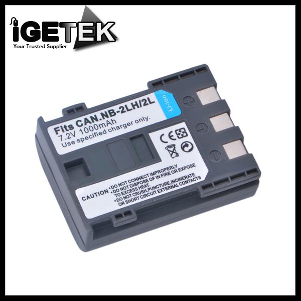 Digital 7.2 V 1000mah NB-2L Battery for Canon NB-2L NB-2LH NB2L NB2LH BP-2L5 400D Rebel XT Xti Camera(China (Mainland))