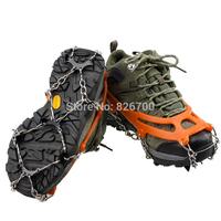 2014 New Hot Strap Type Crampon Ski Belt High Altitudes Hiking Slip-resistant 8 Crampon crampons Snowshoes#W0141