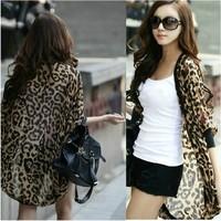 Cheap 2014 New women blouse Casual Women Sunscreen Cardigan Protection 3/4 Sleeve Chiffon Cardigan Coat Tops JC1071ADJ