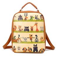 GO FASHION Hot Style PU Backpack Cartoon Backpack Pockets Wholesale