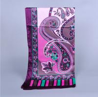 180cm*62cm 100% High Quality New Brand HangZhou China Pattern Design Print Floral Silk Scarves Chinese Elegant Style Shawl Women