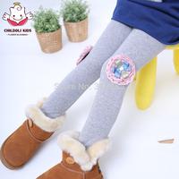 2014 children's spring clothing female child legging child flower thin skinny pants child trousers