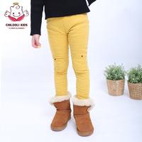 2014 Autumn and winter fleece plus velvet trousers thermal thickening legging female child plus velvet legging