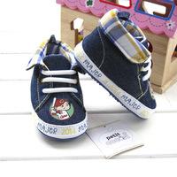 2014 Original baby boys fashion sneakers soft TPR sole denim infant kids sports shoes bebe shoe wholesale frees shipping