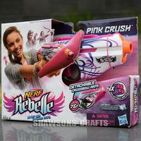 NERF SOFT DART GUN BLASTER REBELLE PINK CRUSH GIRLS TOY GUN